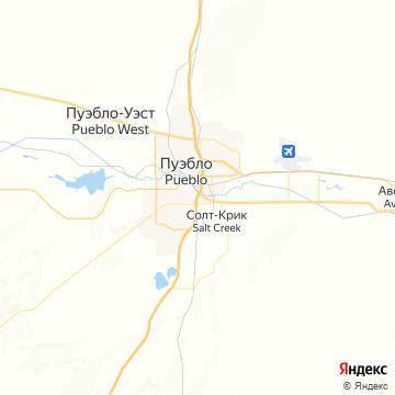 Карта Пуэбло