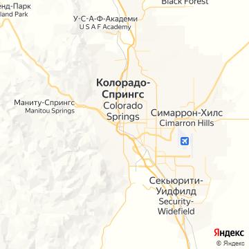 Карта Колорадо-Спрингса
