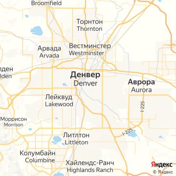Карта Денвера