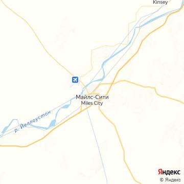Карта Майлза-Сити