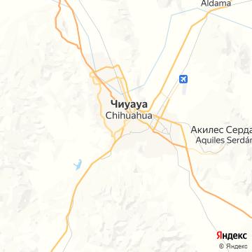 Карта Чихуахуа