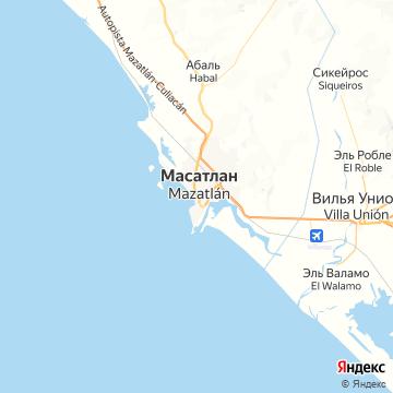 Карта Мазатлана