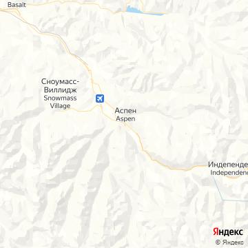 Карта Аспена