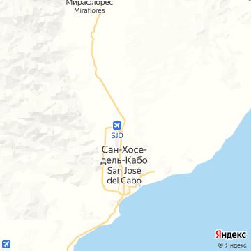 Карта Сан-Хосе Кабо