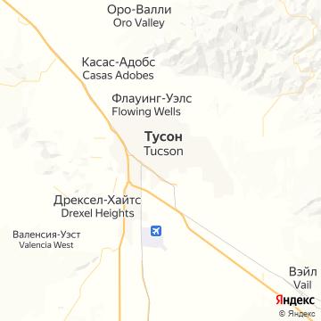 Карта Туксона