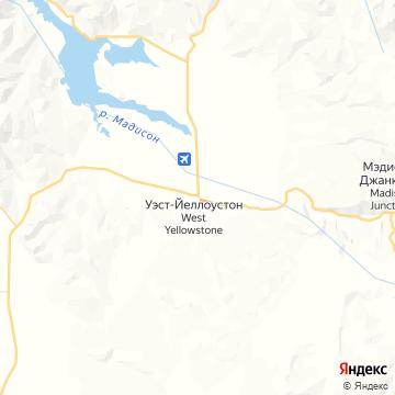 Карта Уэста Иелоустоун