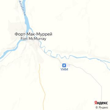 Карта Форта Мак-Мюррей
