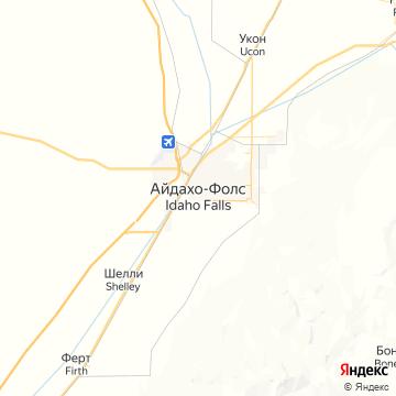 Карта Айдахо Фоллз