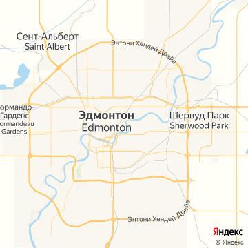 Карта Эдмонтона
