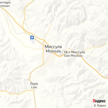 Карта Миссулы