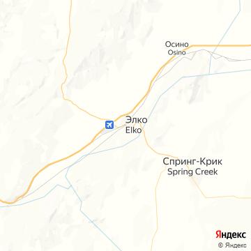Карта Элко