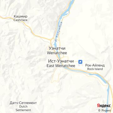 Карта Уэнатчей