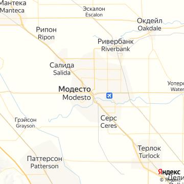 Карта Модесто
