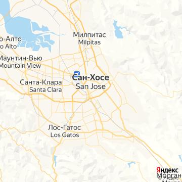 Карта Сан-Хосе