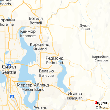 Карта Редмонда