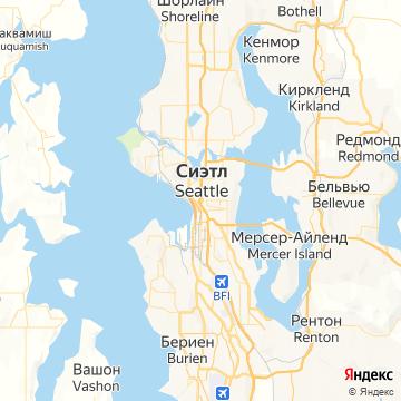 Карта Сиэтла