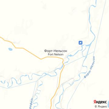 Карта Форта-Нельсона