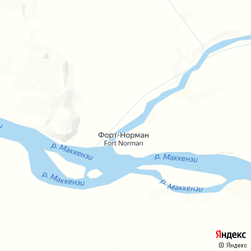 Карта Tulita/Fort Norman