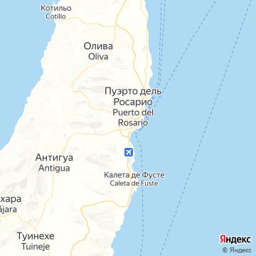Карта Пуэрто-Дель-Росарио