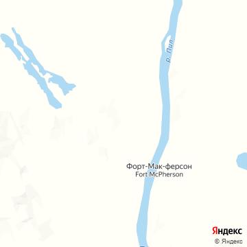 Карта Форта-Макферсона