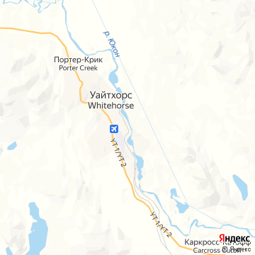 Карта Уайтхорса