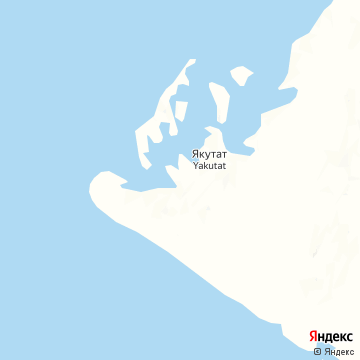 Карта Якутата