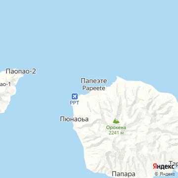 Карта Папеэте
