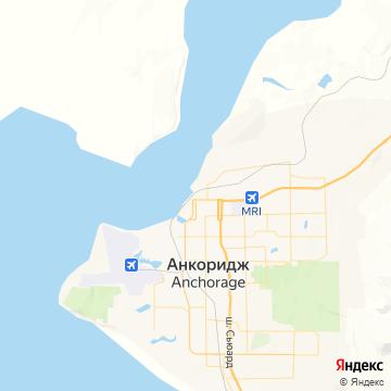 Карта Анкориджа