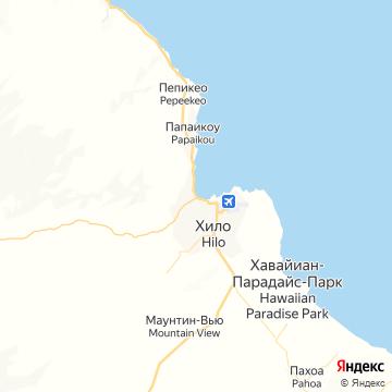 Карта Хило