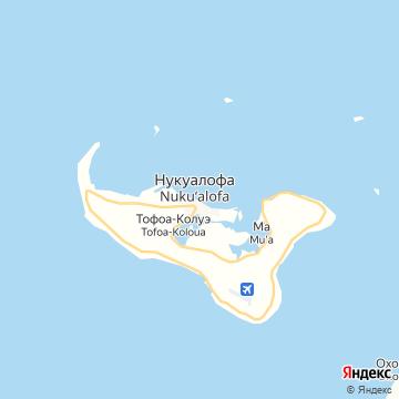Карта Нукуалофы