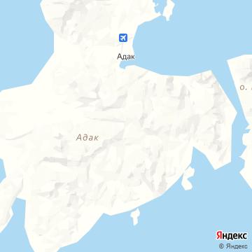 Карта Адака-Айленда
