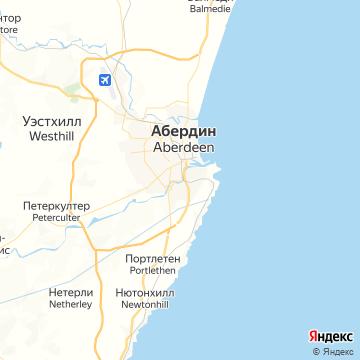 Карта Абердина