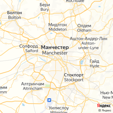Карта Манчестера