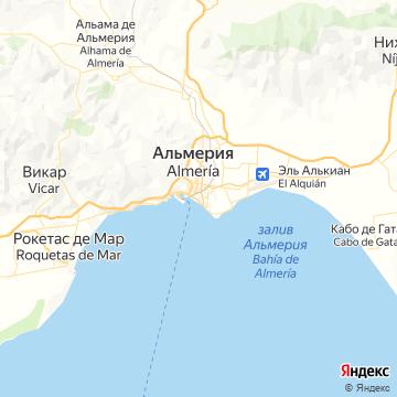 Карта Альмерии