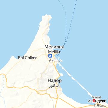 Карта Мелильи