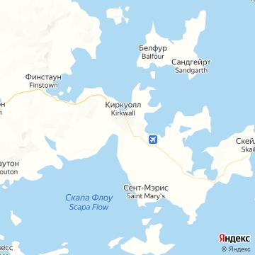 Карта Киркволла