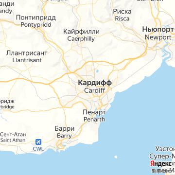 Карта Кардифф