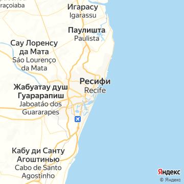 Карта Ресифи