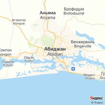 Карта Абиджана