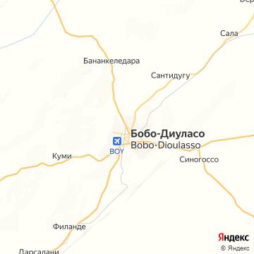 Карта Бобо-Диуласо