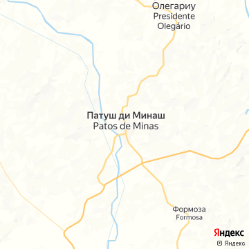 Карта Патоса де Минас