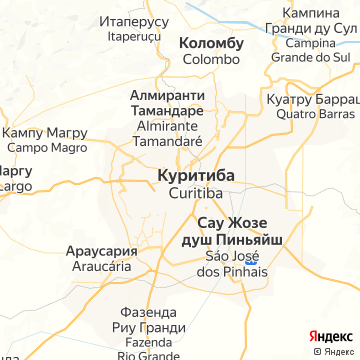 Карта Куритибы
