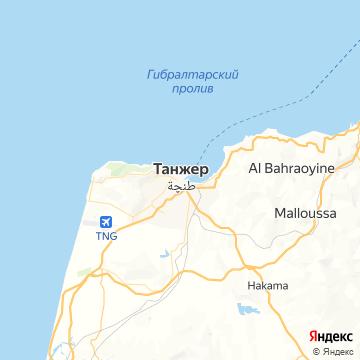 Карта Танжера