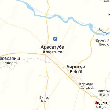 Карта Аракатубы