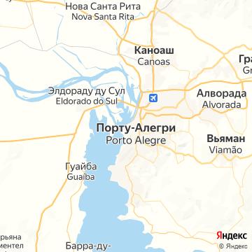 Карта Порто Алегре