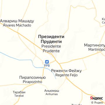 Карта Президенте-Пруденте