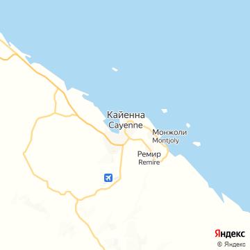 Карта Кайенны