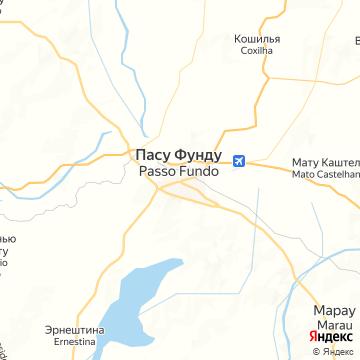 Карта Пассо-Фундо