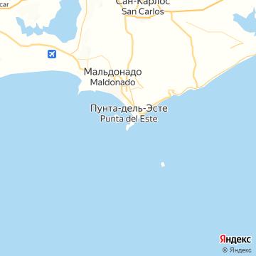 Карта Пунты-дель-Эсте