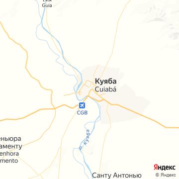 Карта Куиабы